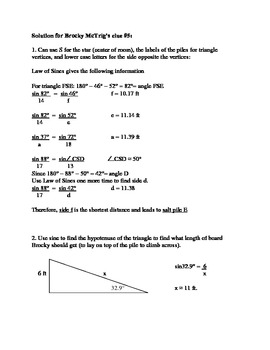 Brocky McTrig: Clue #5 Piles of Salt - the Law of Sines and right triangle trig