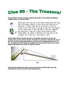 Brocky McTrig: Clue #6 The Treasure! - using tangent and inverse tan