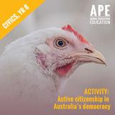 Broiler Chicken Welfare | Civics & Citizenship Yr 8 | Knowledge & Understanding