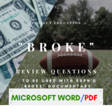 ESPN 30 for 30: Broke Review Questions