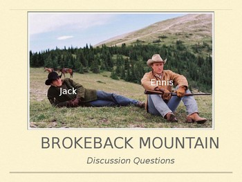 Brokeback Mountain Film Discussion Questions PPT