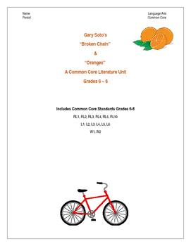 Broken Chain and Oranges by Gary Soto Literature Unit