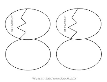 Broken Egg! {An editable Math or Literacy station FREEBIE!}