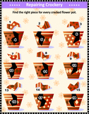Broken Flower Pots Visual Puzzle, Commercial Use Allowed