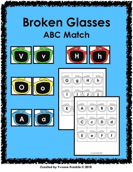 Broken Glasses ABC Match