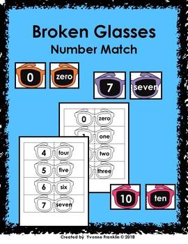 Broken Glasses Number Match