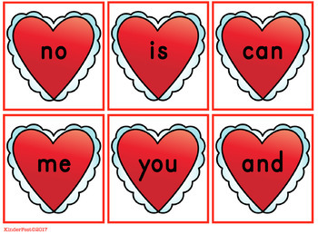 Broken Heart! A Sight Word Game for Valentine's Day