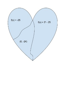 Broken Heart Exponential Growth/Decay Function Notation