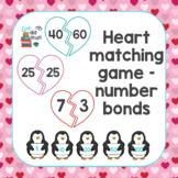 Broken Heart Number Bond Matching Game