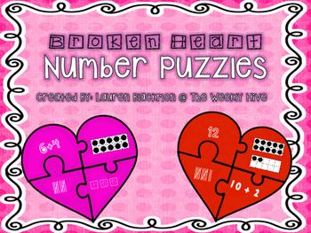 Broken Heart Number Puzzles