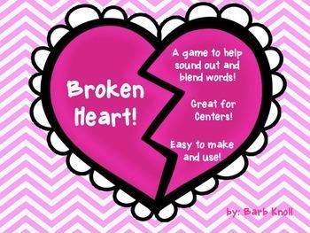 Broken Heart! Sounding out words!