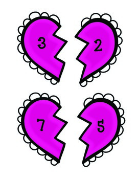 Broken Hearts Addition and Subtraction Match-Up (to 20)