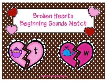 Broken Hearts Beginning Sounds Match