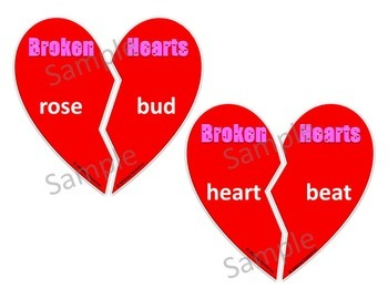Broken Hearts - Building Compound Words Valentine