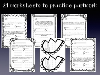 Broken Hearts Club: PDFs and Worksheets to Practice Partwork- half note