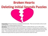 Broken Hearts Initial Phoneme Deletion Puzzle - A Valentine's Day Game