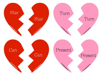 Broken Hearts Match Up: A Multiple Meaning Word Game