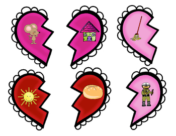 Broken Hearts: Rhyming Match Game