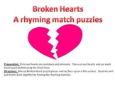 Broken Hearts Rhyming - a Valentine's Day Rhyming Puzzle