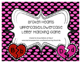 Broken Hearts: Uppercase Lowercase Letter Matching Game