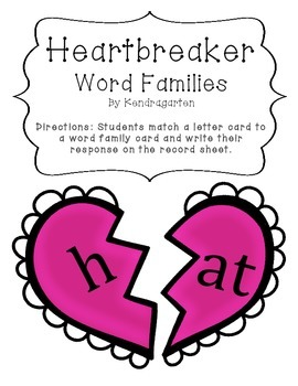Broken Hearts Word Families