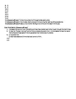 Broken Memory Assessment; Multiple Choice/Matching/Essay