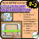 Broken Ruler Metric Measuring Center Little Crunchers Snack Inspector