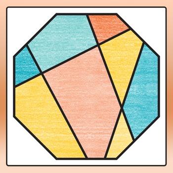 Broken Shapes / Randomly Cut Up Shapes Clip Art for Commercial Use