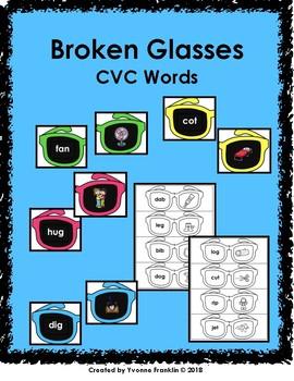 Broken Sun Glasses CVC Words