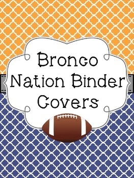 Bronco Nation Binder Covers