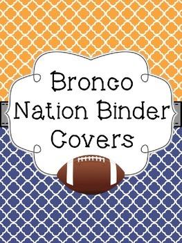 Bronco Nation Binder Covers