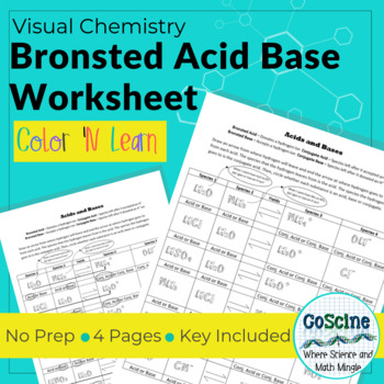Bronsted Acid Base Worksheet