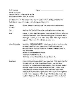 Bronte's Wuthering Heights - Chapter 1 Setting Activity