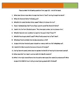 Bronx Masquerade - Grimes - p151-End Questions