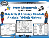 Bronx Masquerade by Nikki Grimes Character & Literary Element Analysis Tri-Folds