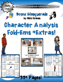 Bronx Masquerade by Nikki Grimes Mini Character Analysis Fold-Ems