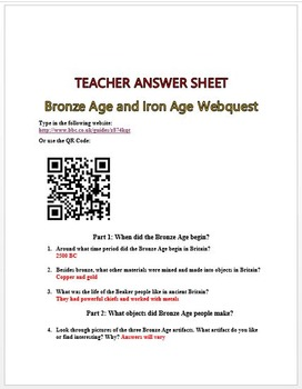 Bronze Age and Iron Age Webquest