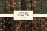 Bronze Animal Skins, seamless African animal print digital paper