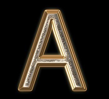 Alphabet Clip Art Bronze Sparkle & Shine ,Punctuation, Math Symbols and Numerals