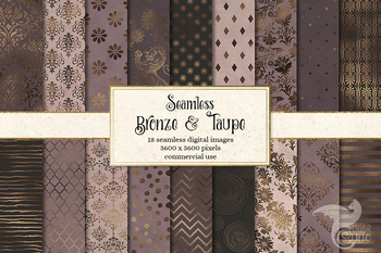 Bronze and Taupe Seamless Digital Paper