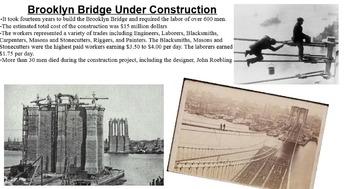 Brooklyn Bridge Smartboard Notebook Presentation