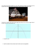 Brooklyn Cyclone Roller Coaster and Quadratic Functions In