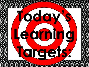 Brooklyn Daily Learning Targets Bulletin Board Set