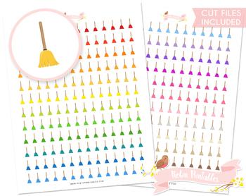 Broom Printable Planner Stickers