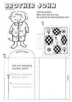 Brother John .. Mini book.. Activity