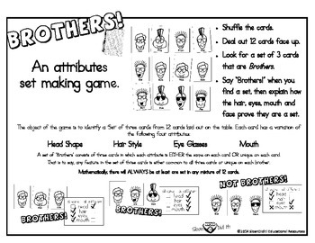 Brothers - A Set Making Attributes Card Game