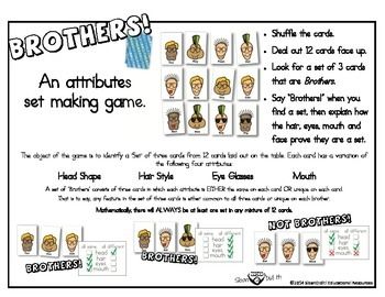 Brothers - A Set Making Attributes Card Game (Color)