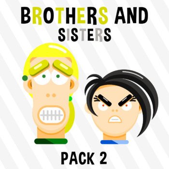 Brothers And Sisters - Pack 2 Clipart