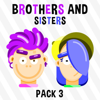 Brothers And Sisters - Pack 3 Clipart
