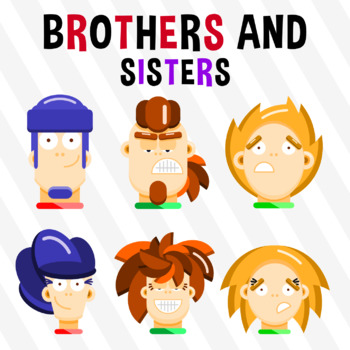 Brothers And Sisters - Pack 6 Clipart
